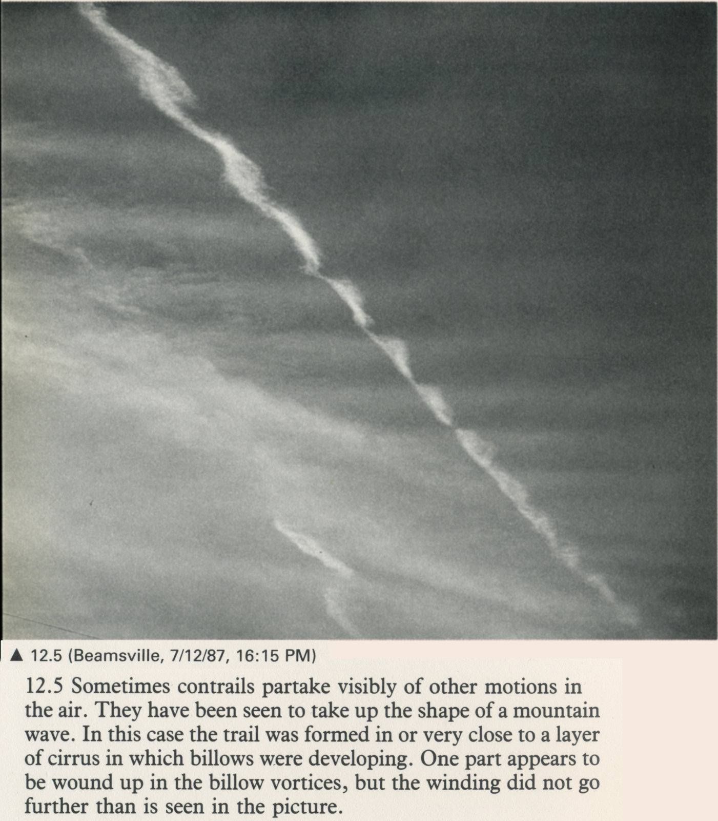 12.5 Contrail in Rippled Sky 1987.