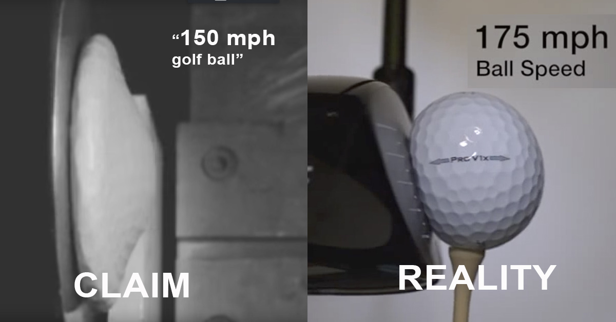 150 mph Golf Ball metabunk.