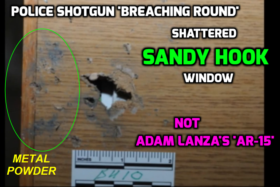 2-police-breaching-round-shattered-sandy-hook-window- ...  sc 1 st  Metabunk & Claim: Evidence for use of \