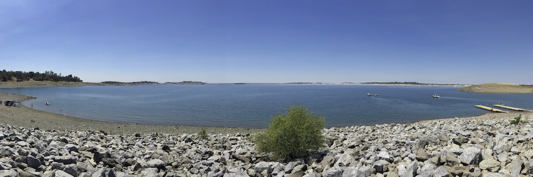Folsom Lake Photographs Demonstrating the Curvature of the Earth