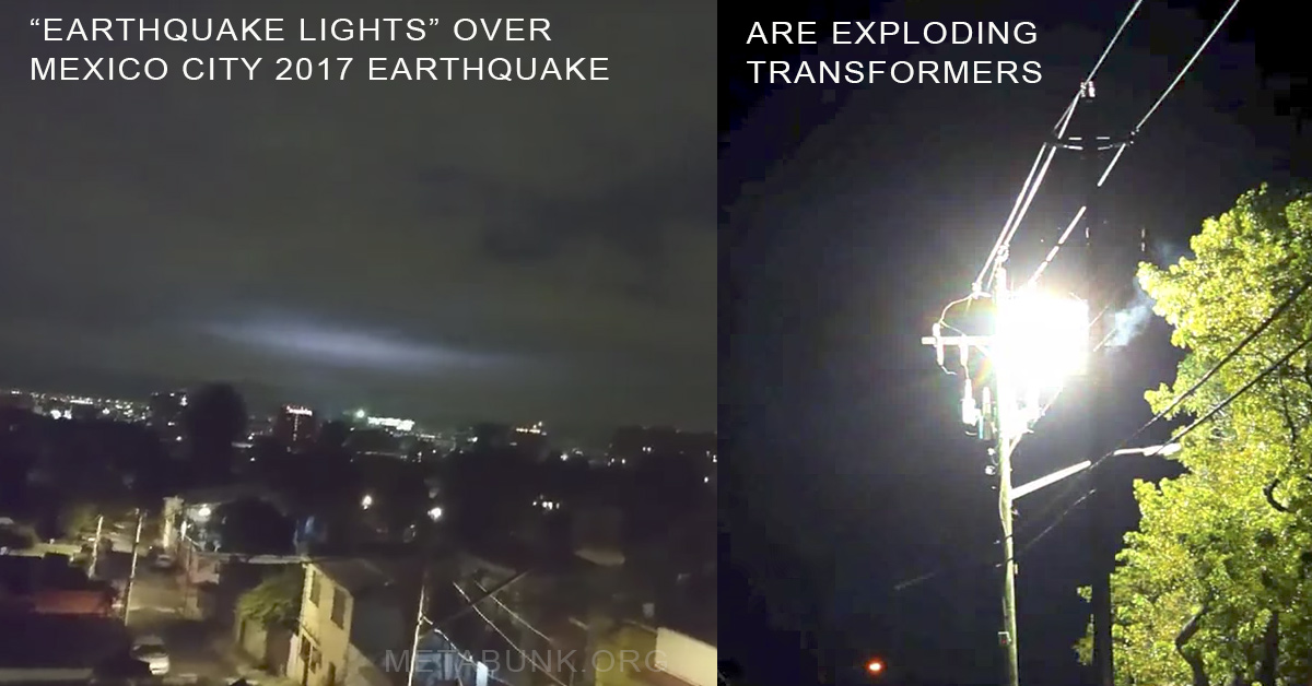 2017 Mexico city earthquake lights Metabunk.