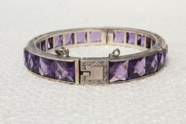 antique-vintage-sterling-silver-hinged-bangle-bracelet-safety-chain-clasp-amethyst-rhinestones...jpg