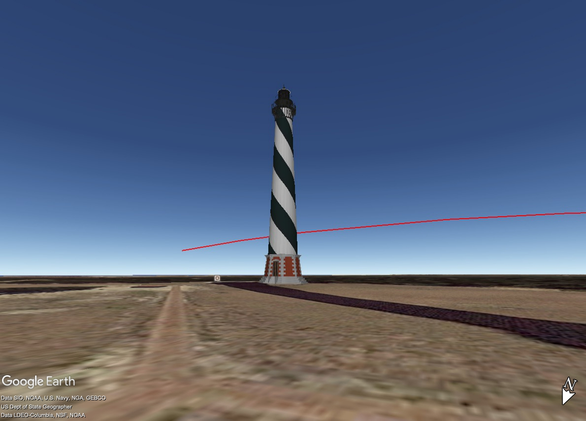 Cape Hatteras SpaceX Step 2 track.jpg