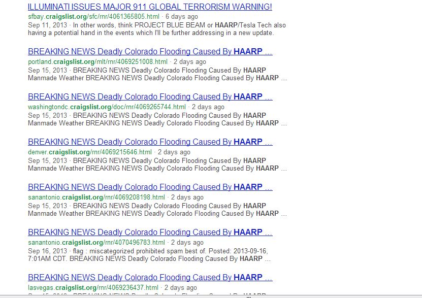 Flooding in Colorado caused by HAARP, nothing to do with