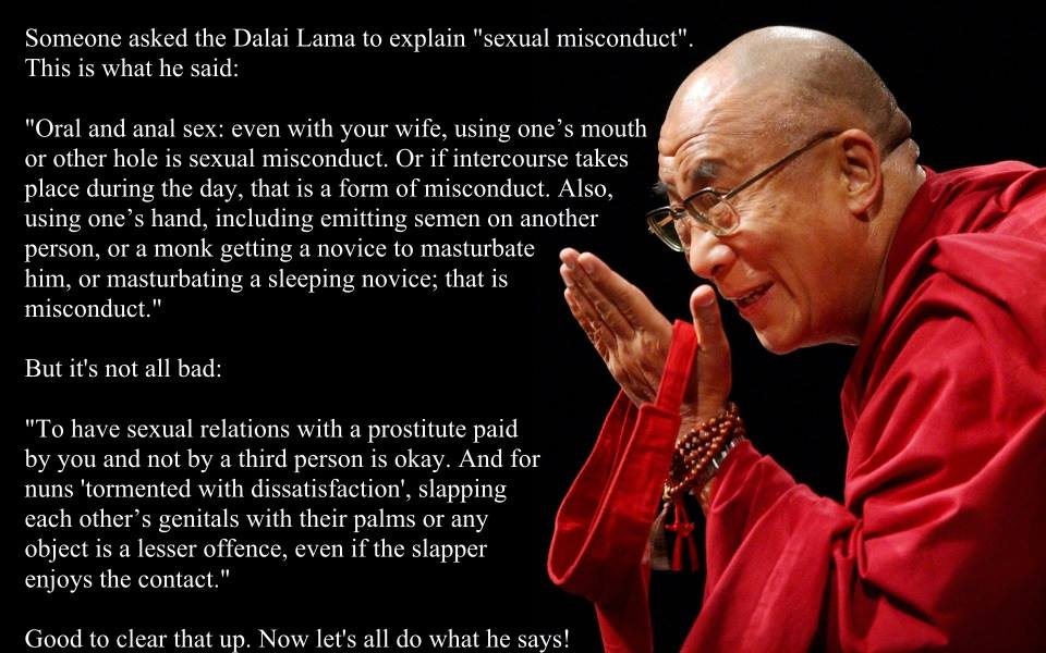 Dalai Lama on sex.