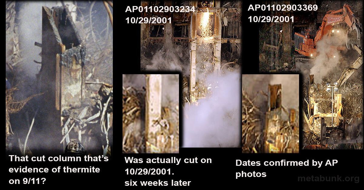 Debunked: The WTC 9/11 Angle Cut Column  [Not Thermite, Cut