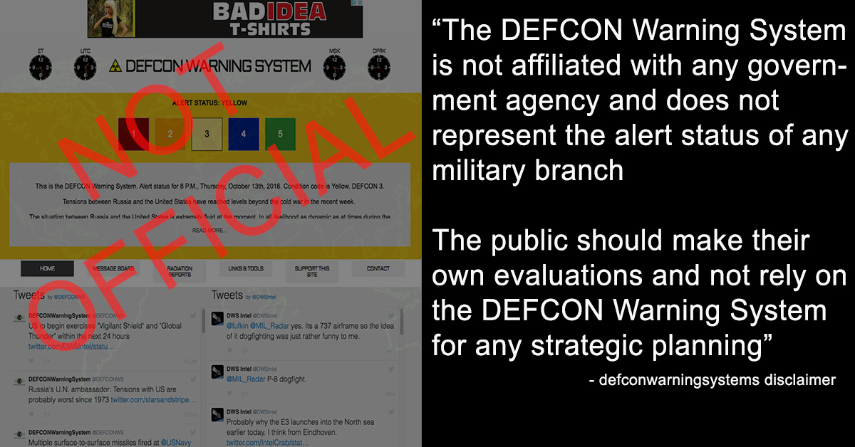 Defcon not official metabunk.