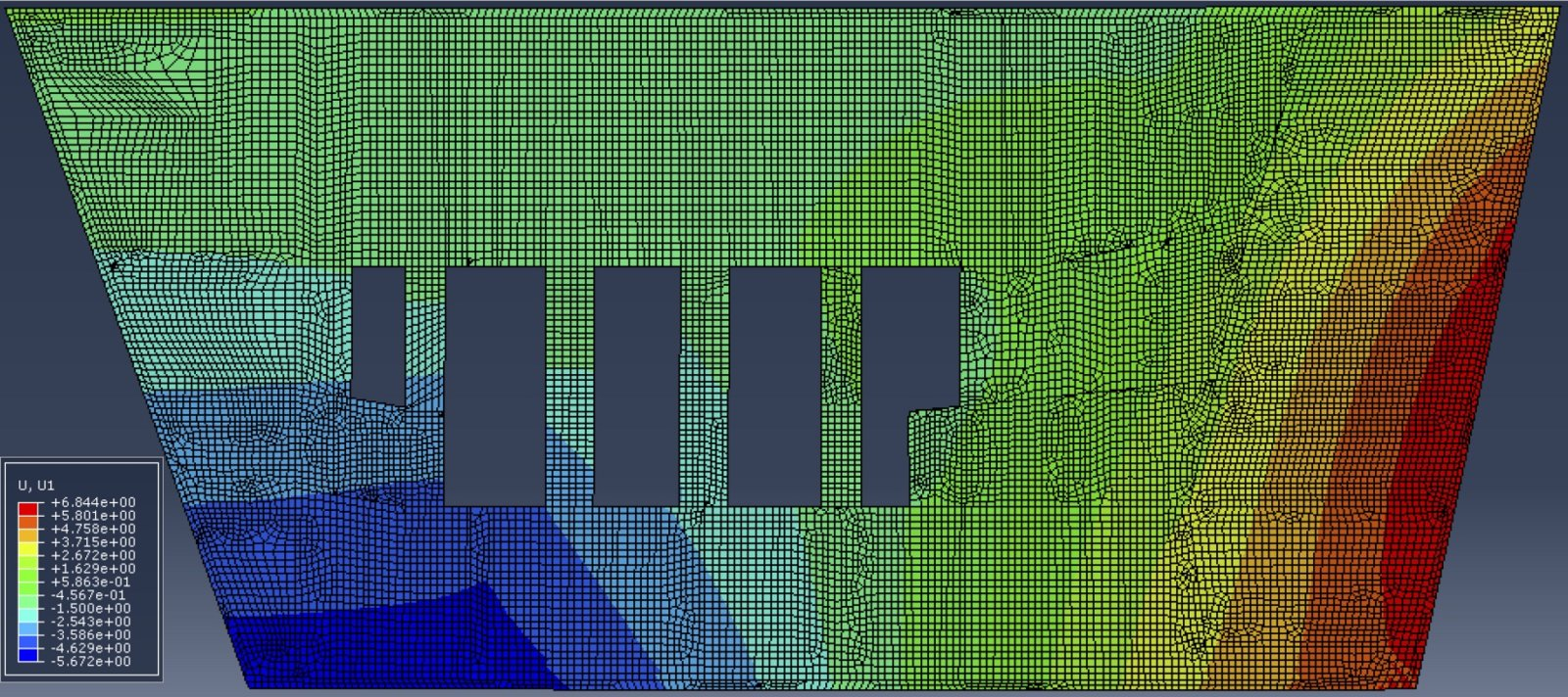 Floor 13 ABAQUS displacement map.