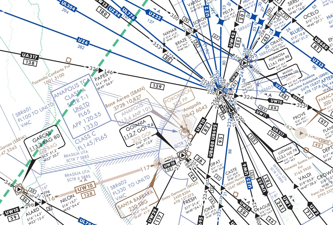 IFR_high_altitude_en_route_chart_-_Brasilia_-_UW2,_UZ6_airways.