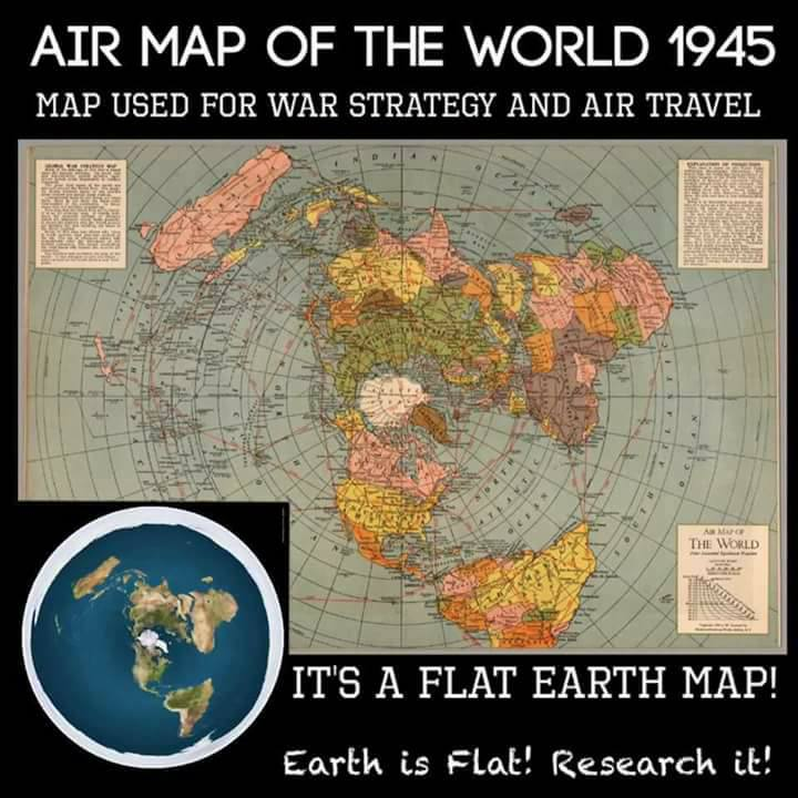 Debunked: Air Map of the World 1945 is a flat Earth map ...