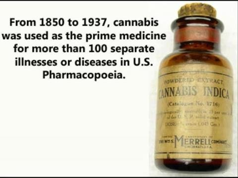 cannabis used as medicine in late 1800's to early 1900's