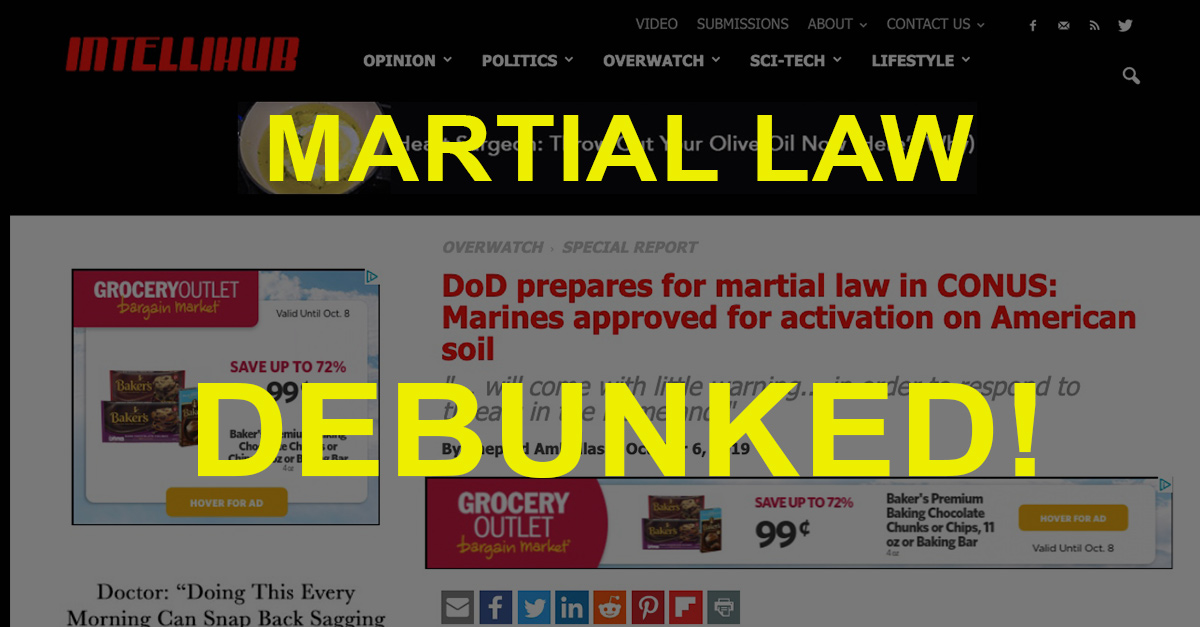 Martial law debunked.