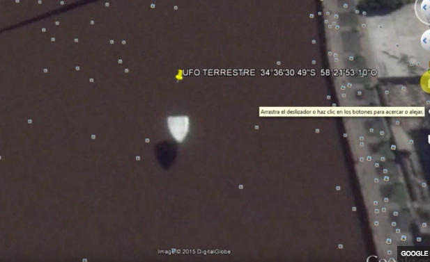 Explained: Floating Triangle UFO in Buenos Aires Google Maps [Bridge on