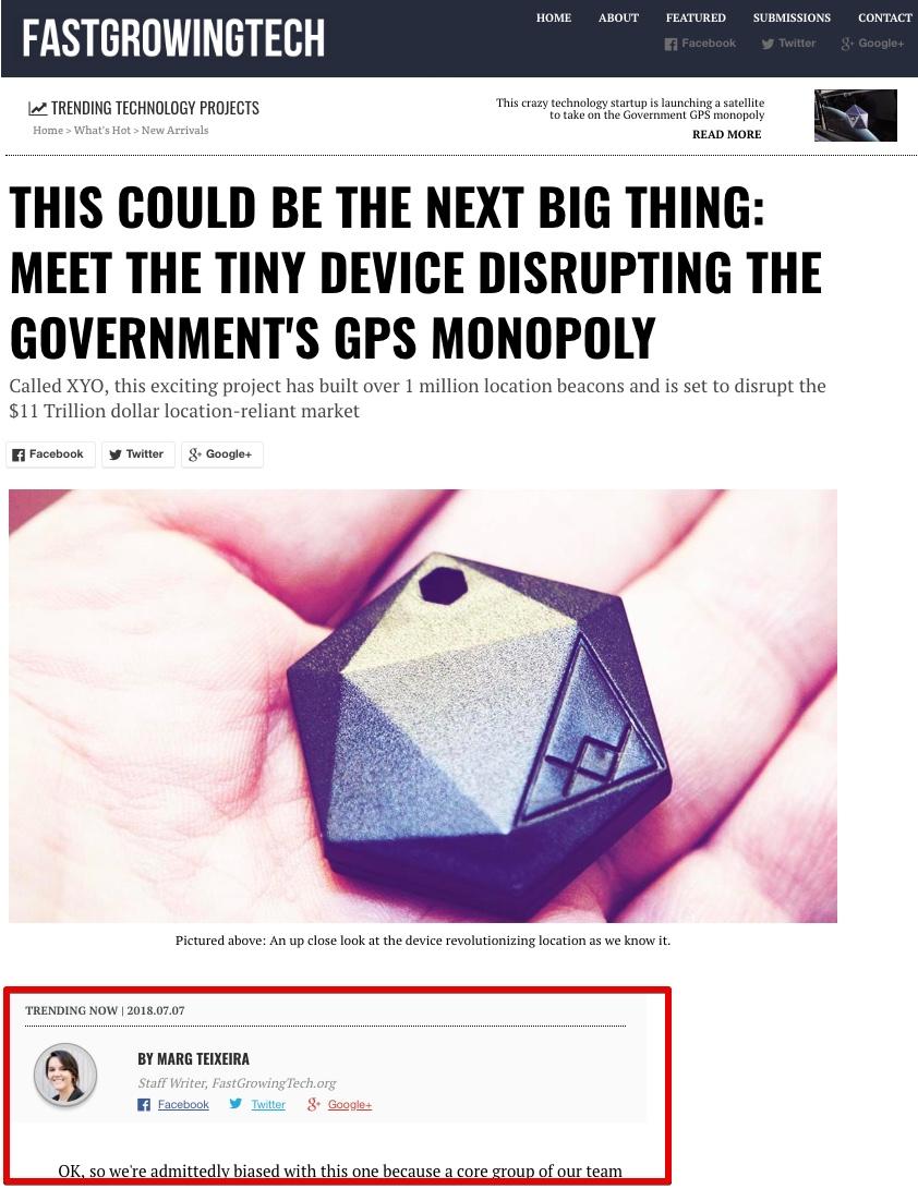 Debunked: XYO Device Replacing GPS, Saving $2 Million a Day