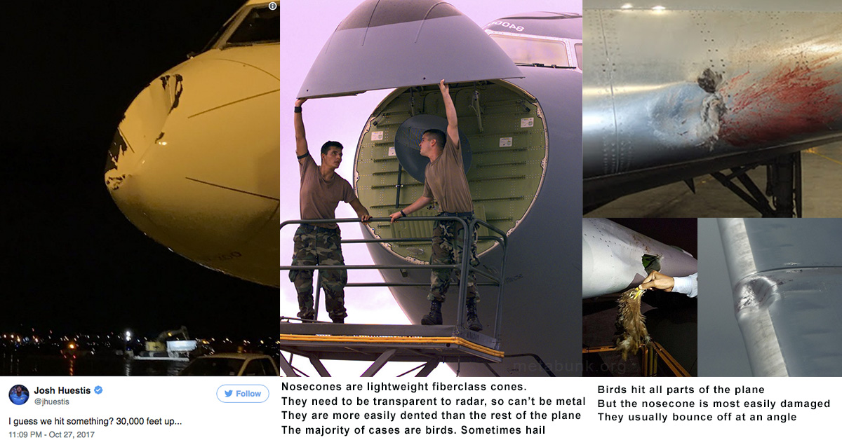 Explained Why Planes Get Dented Nosecones It S Mostly