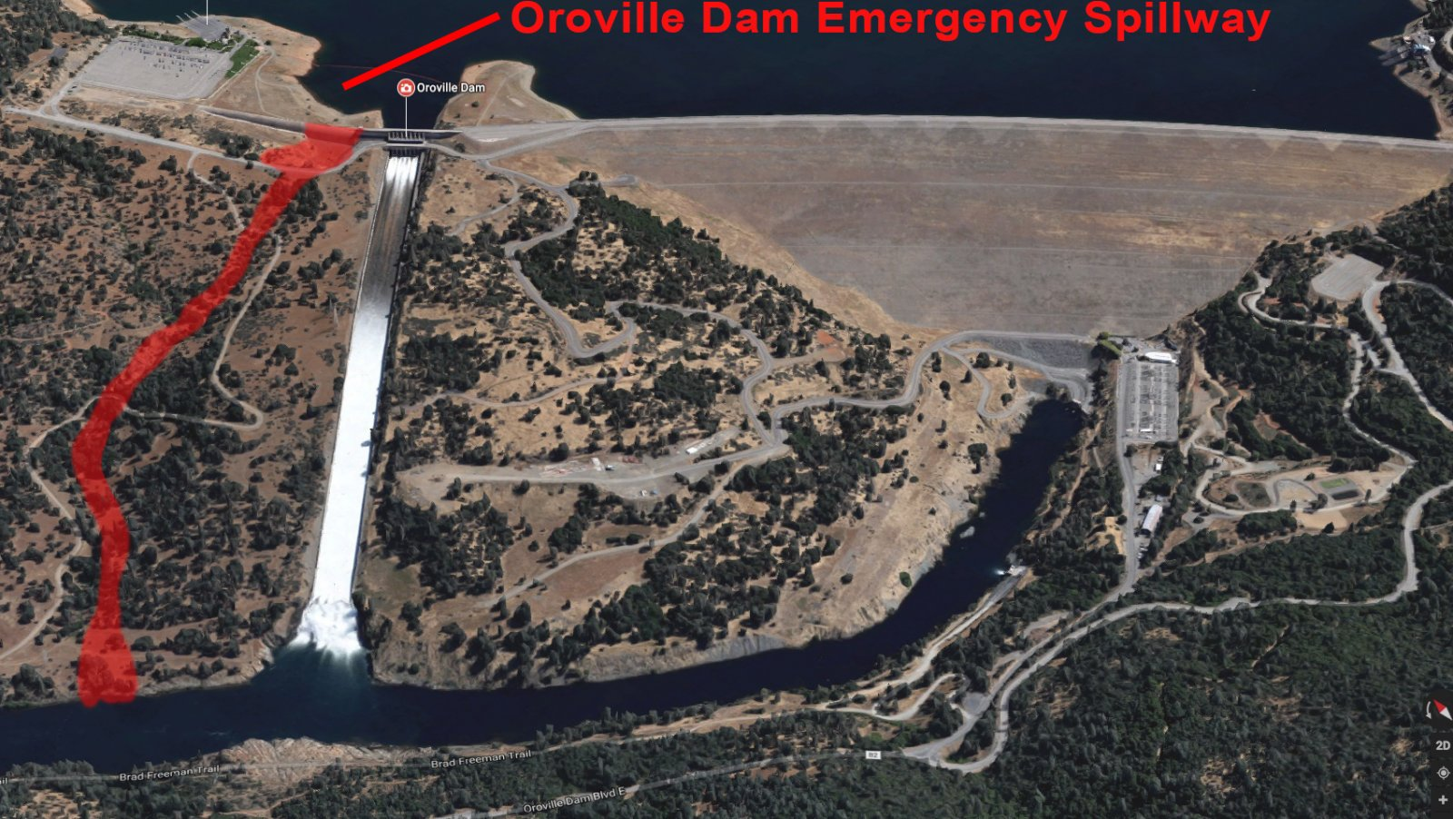 Image result for photos of oroville dam