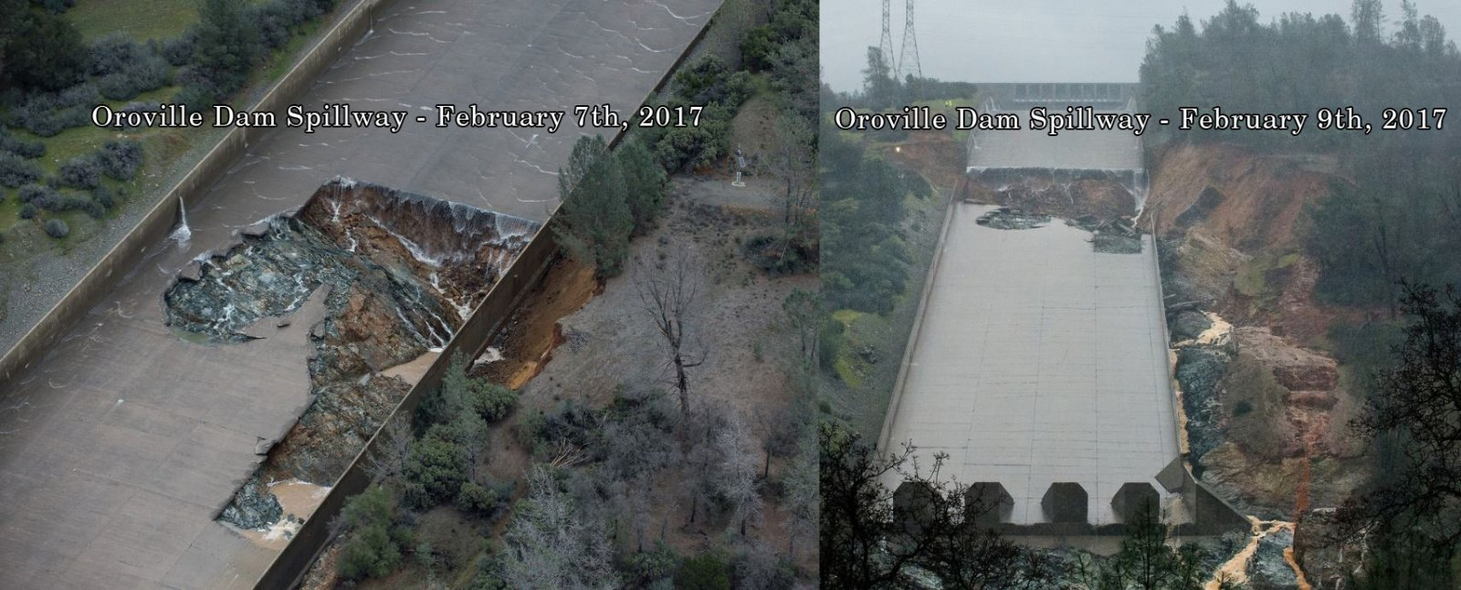 oroville spillway Feb 7-9.