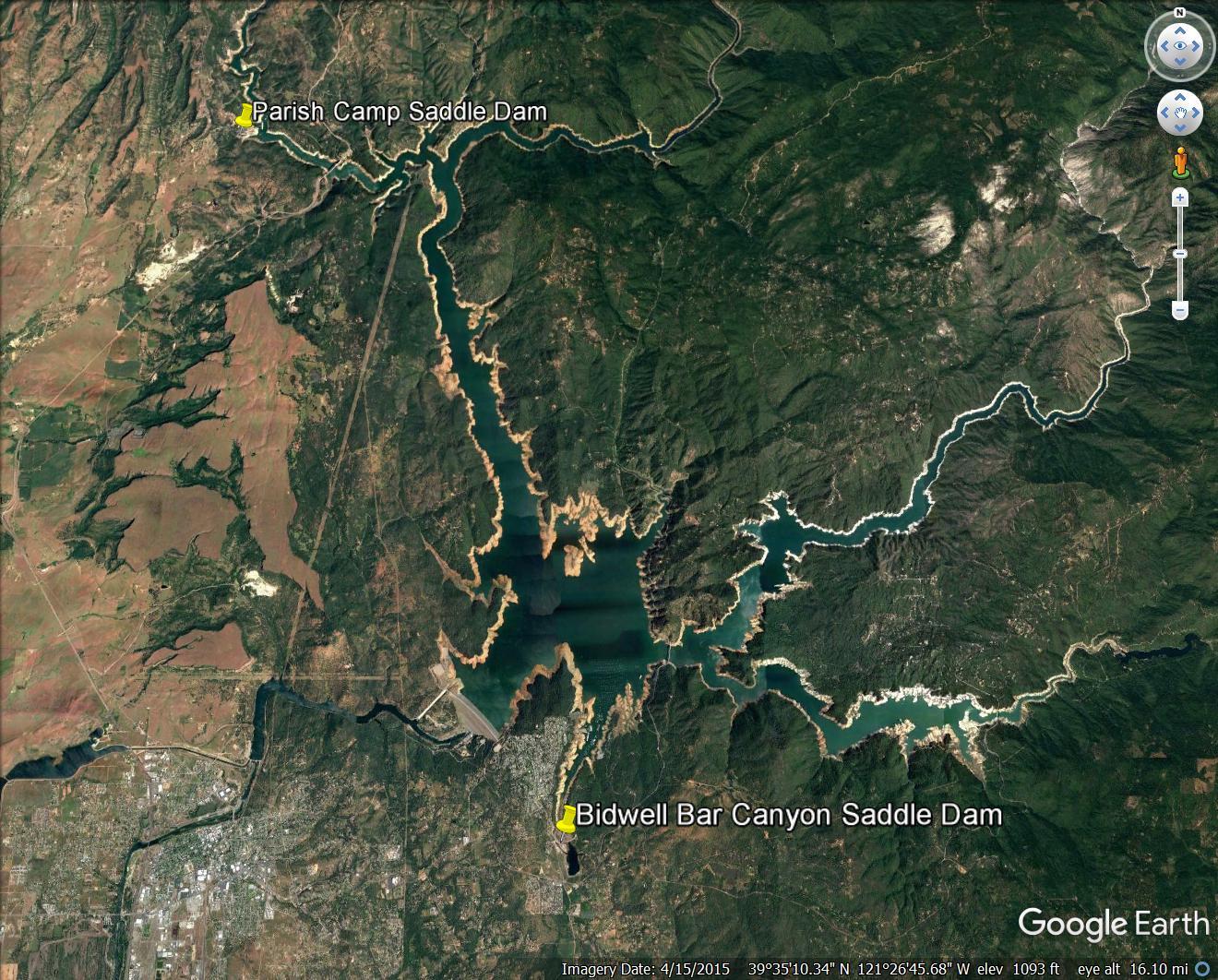 saddle dam locations in GE.