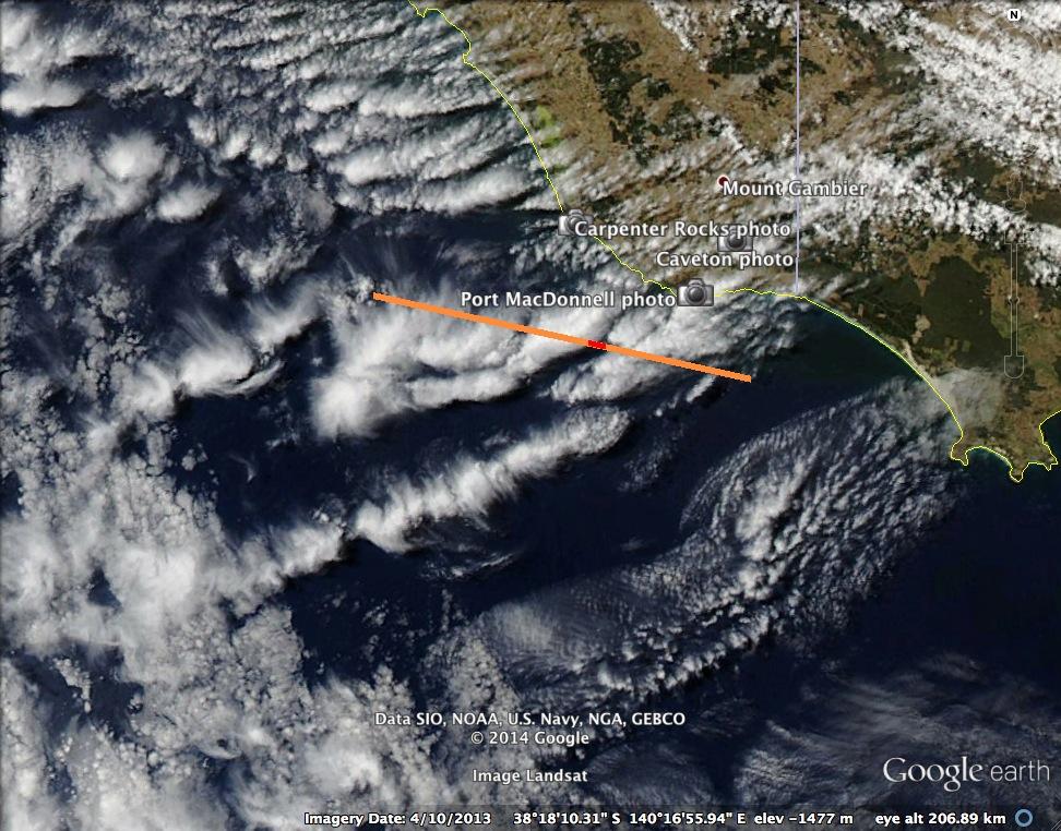 Jellyfish clouds over South Australia (altocumulus floccus ... |Altocumulus Clouds Satellite