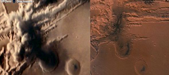Debunked Nuclear Cloud On Indian Mars Orbiter Image