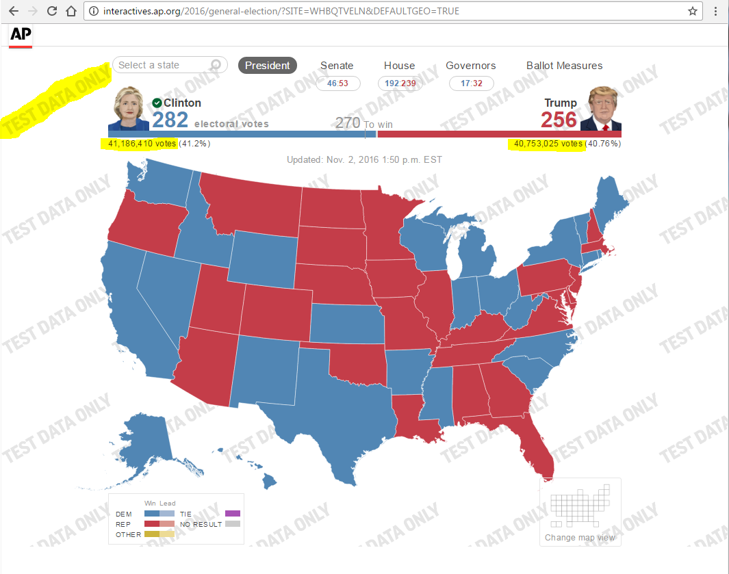 Explained NBC Local News Accidentally Posts US ElectionResults A - Map of us election results