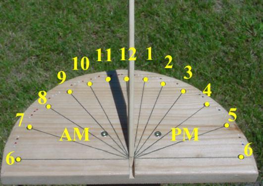 Как сделать своими руками солнечные часы