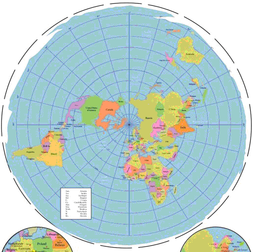Flat Earth Map Antarctica.Demonstrating The Curvature Of The Earth By Flying In A Straight