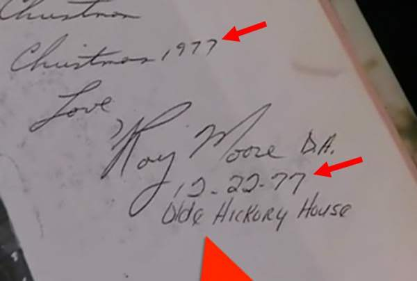 Roy moore yearbook signature faked? metabunk