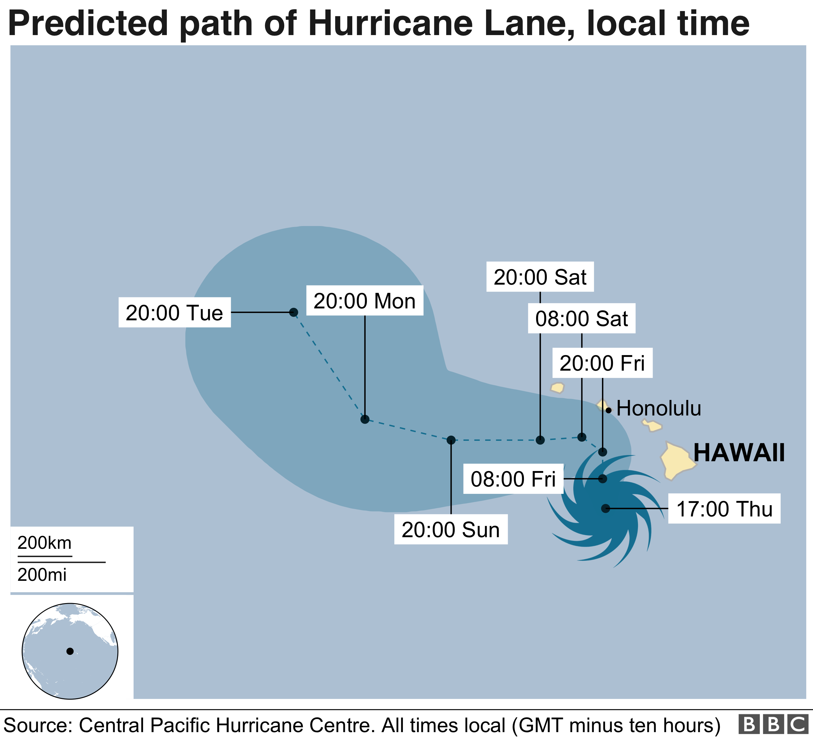 Hurricane Lane Heading Towards Hawaii | Metabunk