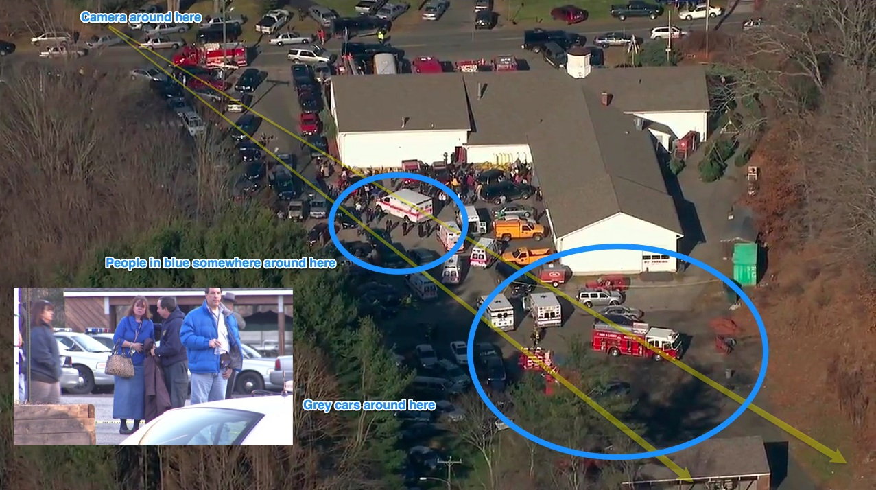 A Lot Of Cars >> Debunked: Sandy Hook. Media staging photos. | Metabunk