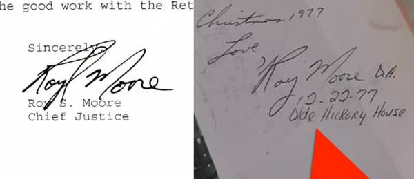 Image result for roy moore yearbook inscription