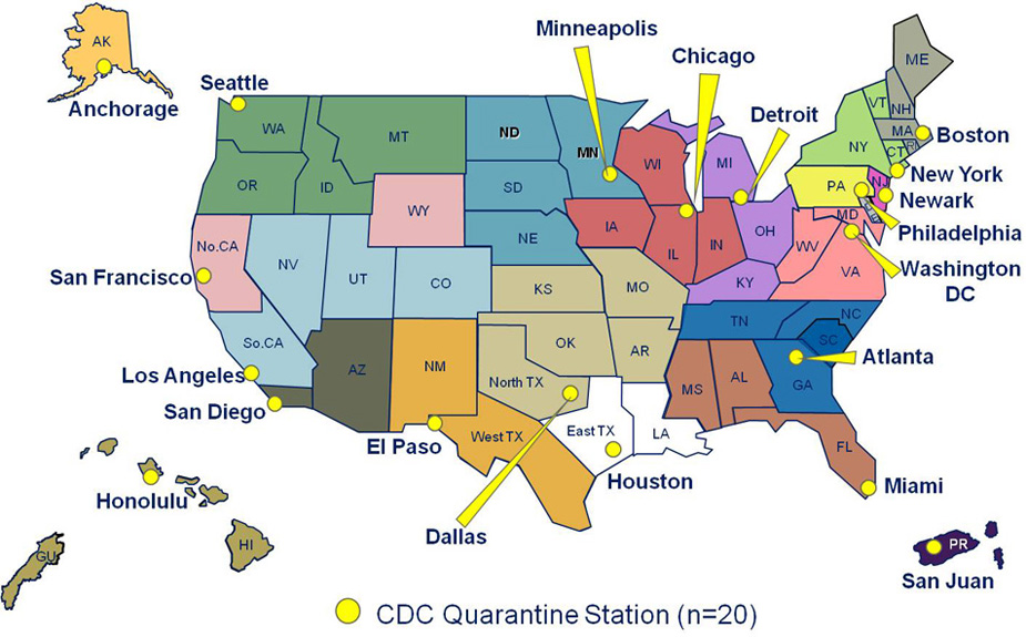 Debunked Ebola CDC Quarantine Map Matches ImmigrationAgenda - Us agenda map