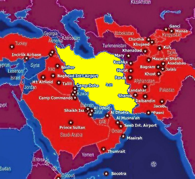 Iran Demonized Andor Idealized Page Metabunk - Map of us bases in the middle east