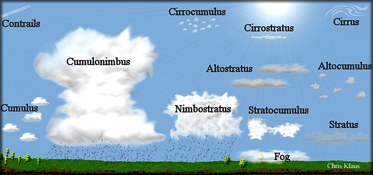 ten basic cloud types His research served as the starting point for the ten basic types of clouds we observe from the world meteorological organization's (wmo) international cloud.
