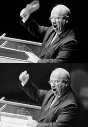 Khruschev_shoe_fake.