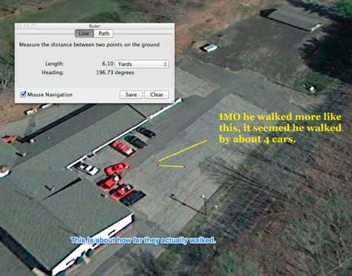 sandy hook fire station. notes on people walking through parking lot. micks yellow line.jpg