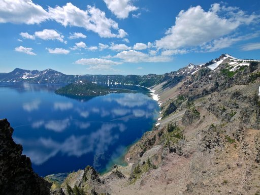 Clouds over Crater Lake r.