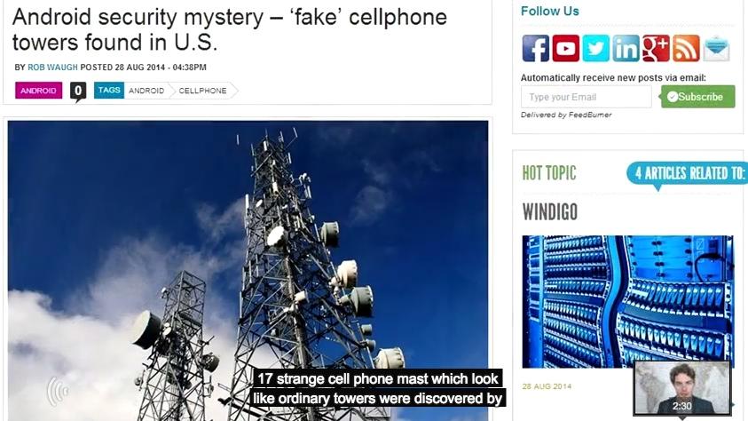 Torres de telefonia FAKE em Londres - vestigios de vigilância em massa