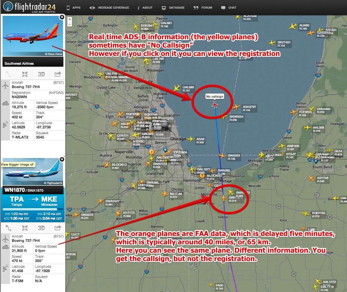 Tip Planes With No Callsign In FlightRadar Metabunk - Us call sign map
