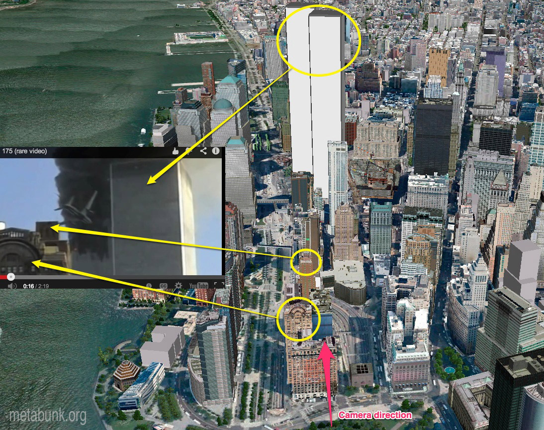 debunked 9 11 impact footage was faked shows layering error